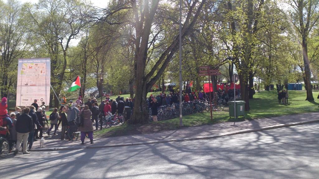 Vänsterpartiet mot Slottsbacken