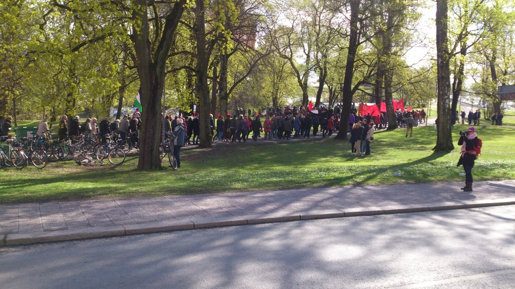 Vänsterpartiet uppför Slottsbacken