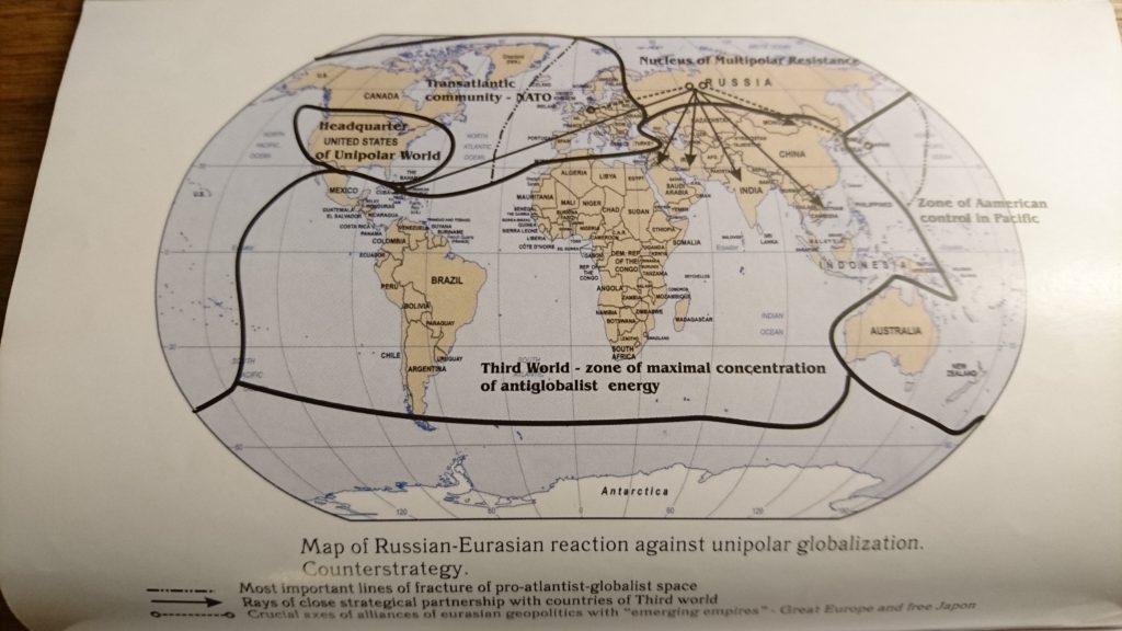 Den eurasiska motstrategin för att bryta USA:s hegemoni, strategiska allianser som bland annat skapar en klyfta mellan USA och Europa.