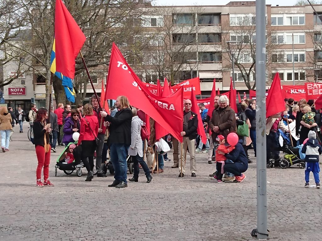 Vänsterpartiets uppsamling vid Vaksala torg
