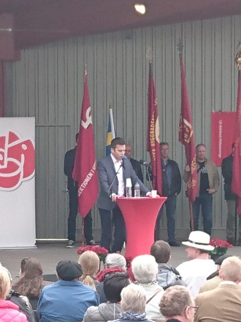 Folkhälsoministern talar i Uppsala